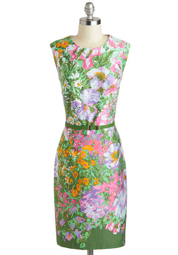 $150 Life of the Garden Party Dress by Mod Cloth
