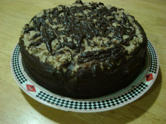 First German Chocolate Cake attempt