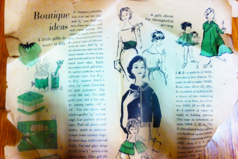 First few pages of 1959 Vogue Pattern Catalog