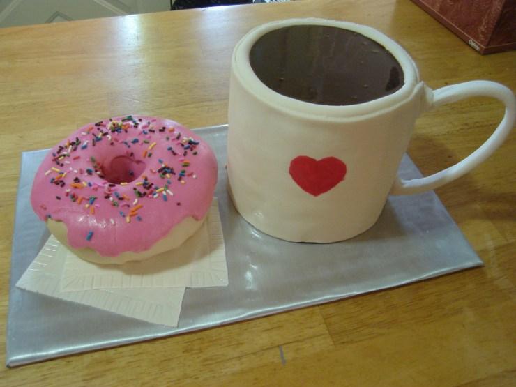 Coffee & Doughnuts Cake