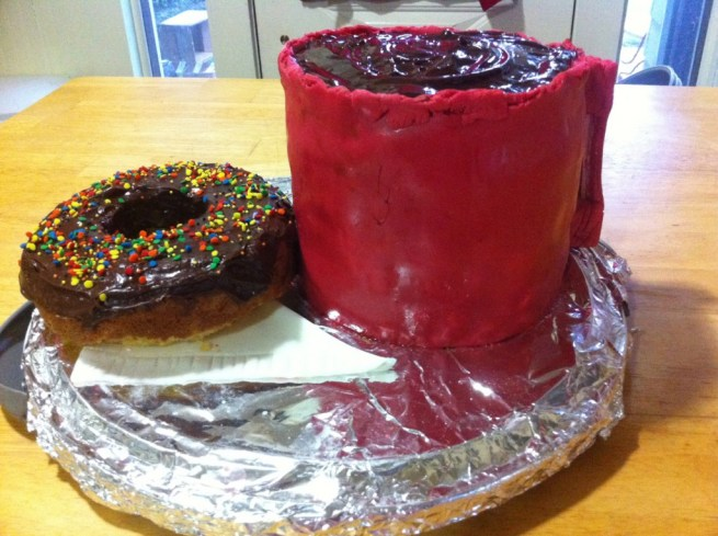 Coffee and Doughnuts, test cake #2