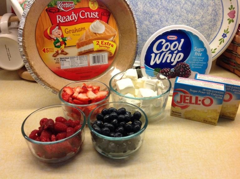 Lemon Berry Pie iingredients