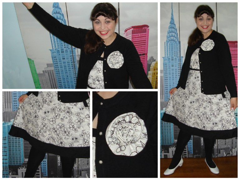 Here's are some of the details of my Black and White Dress