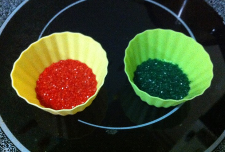 Red and Green sugar sprinkle