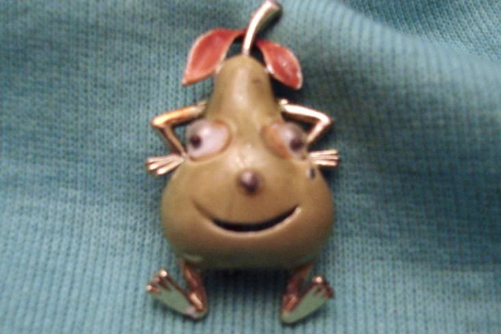 Pear Guy Brooch