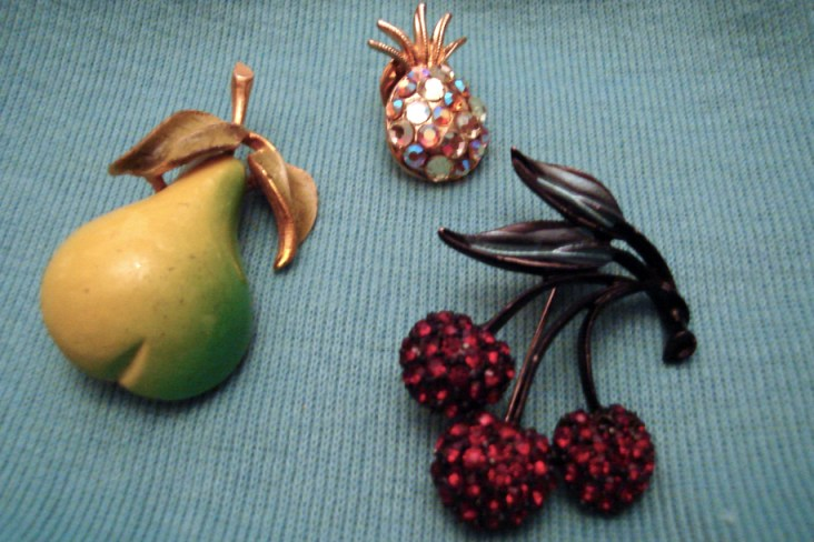 More fruit brooches