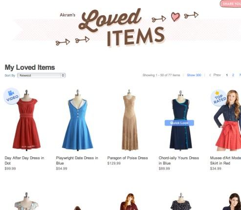My Modcloth Love List
