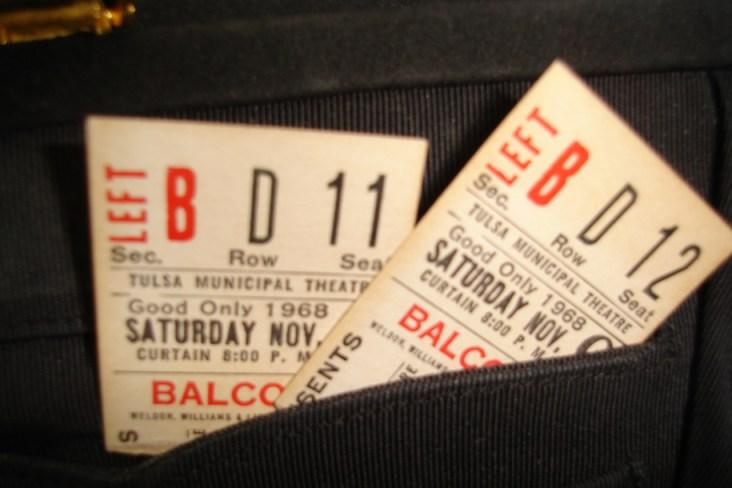 1968 Ticket stubs