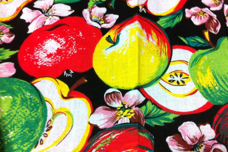 Apple fabric I picked up at an antique store.