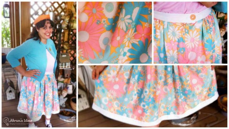 Completed Floral Gathered Skirt