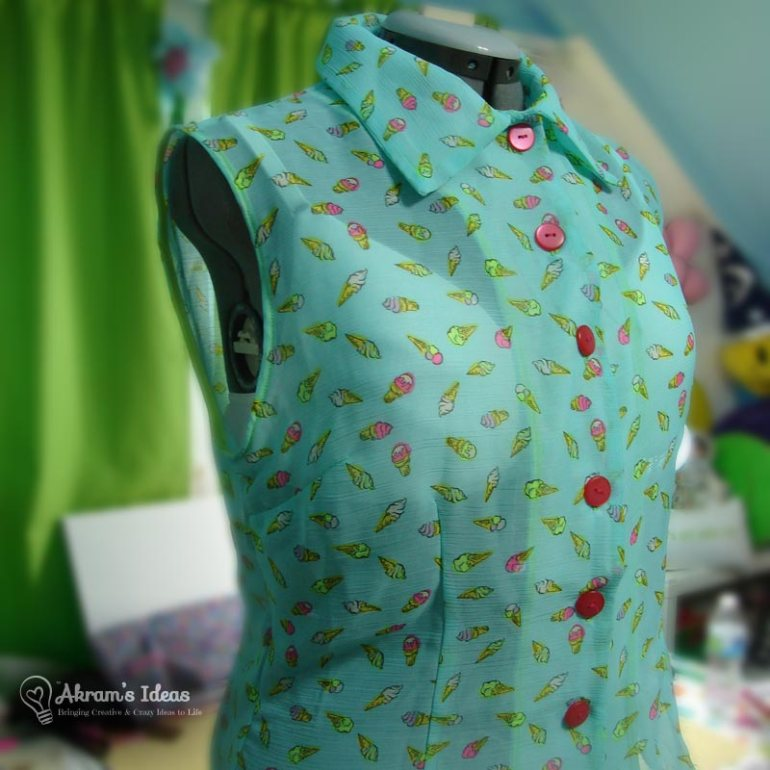 Completed ice cream shirt