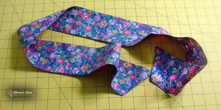 Brigitte scarf all sewed up