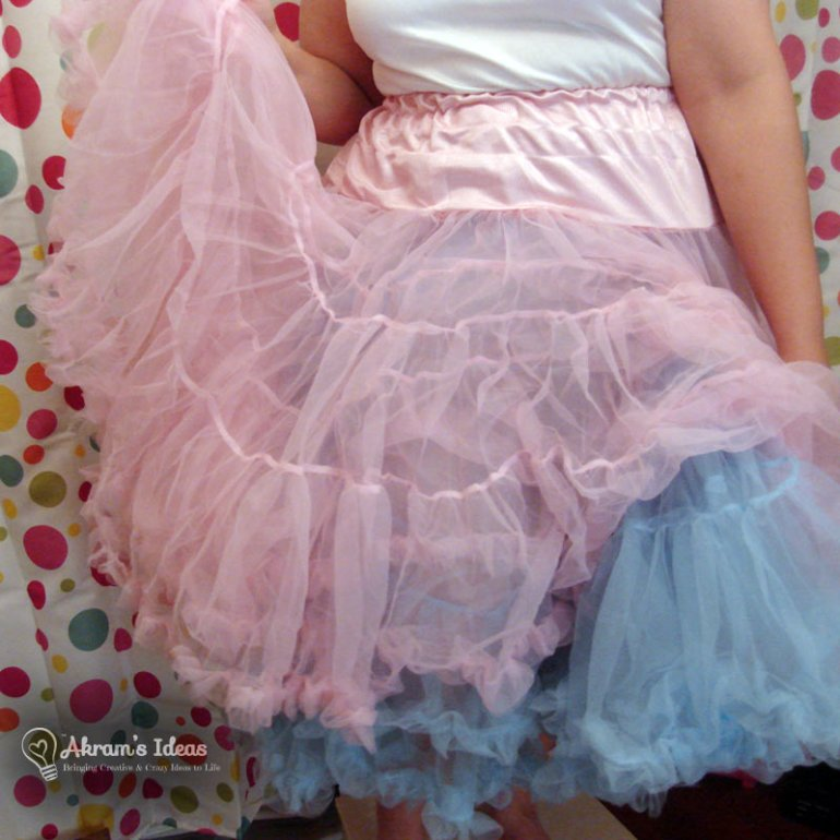 Here I am trying both petticoats on for fun
