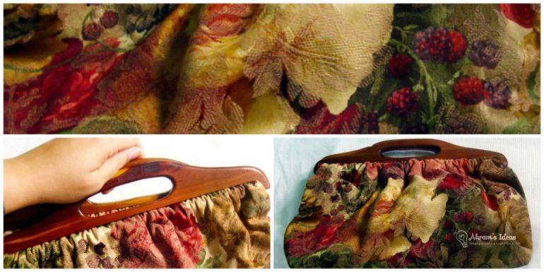 Handmade Vintage Wooden Handel Handbag