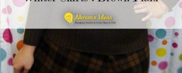 Akram's Ideas : Winter Skirts-Brown Plaid