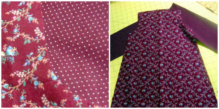Akram's Ideas: Peasant Dress Fabric and Pattern Pieces Cut