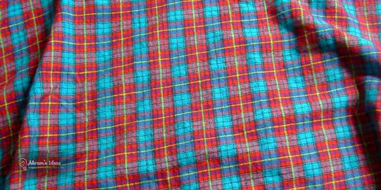 Red and Blue Plaid Fabric