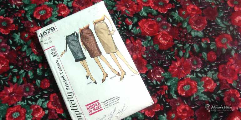 Vintage Simplicity 4579 and Rose Corduroy Fabric
