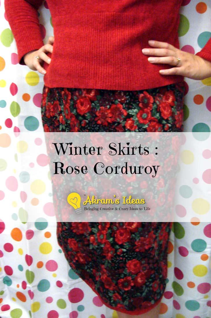 Akram's Ideas: Winter Skirt - Rose Corduroy