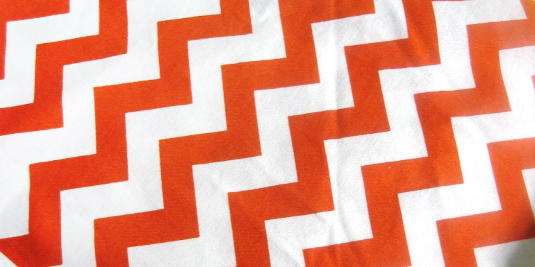 Akram's Ideas: Orange Chevron Fabric