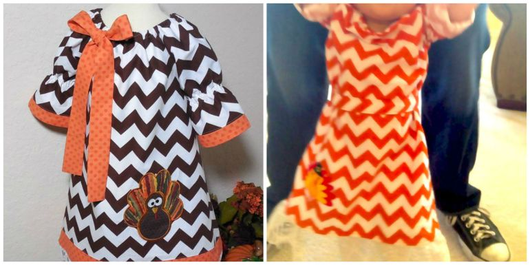 Akram's Ideas: Turkey Dress comparison to inspiration dress