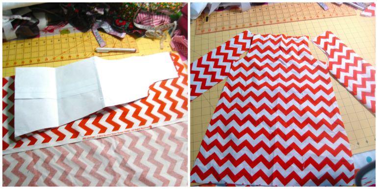 Akram's Ideas : Turkey Dress cut pattern pieces