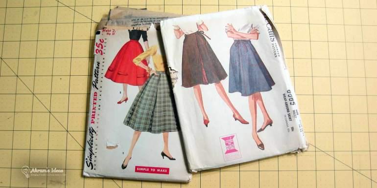 Akram's Ideas: Full skirt and Wrap skirt patterns