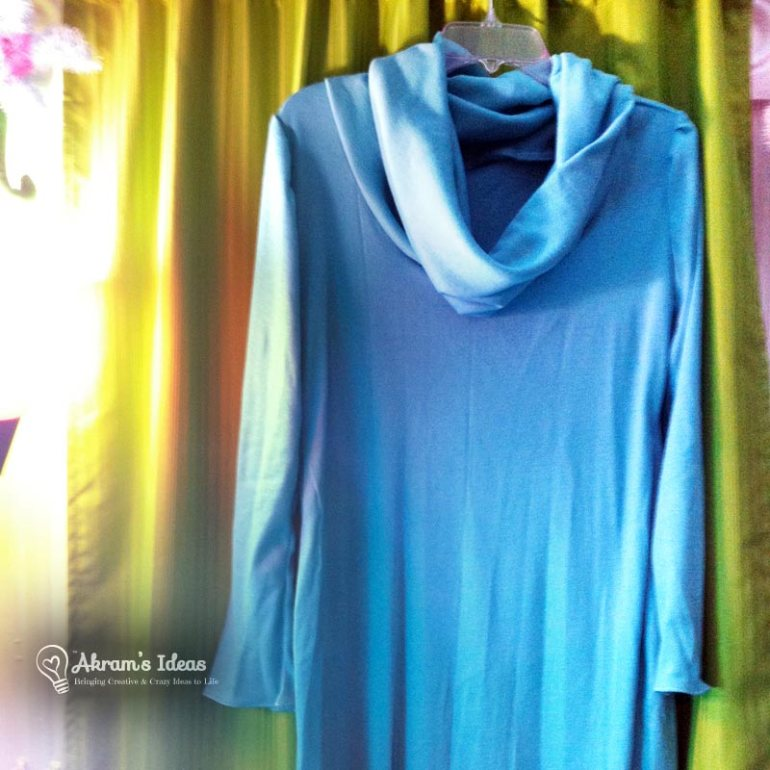 Sample Dress made from teal jersy