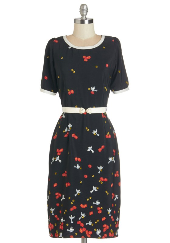Under Lock and Tweet Dress by Modcloth