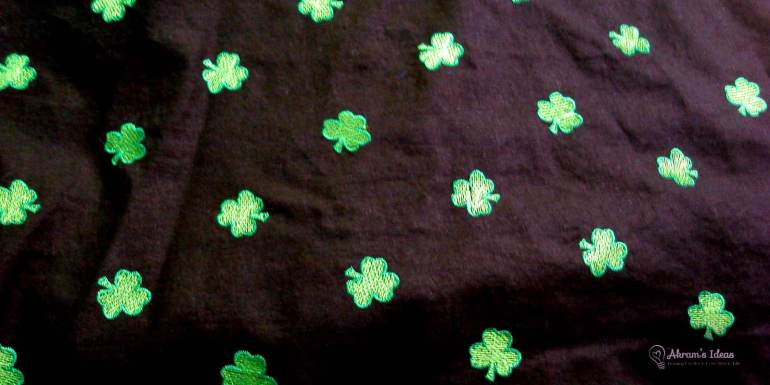 Embroider clover fabric