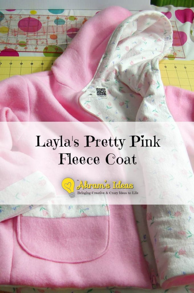 Layla's Pretty Pink Fleece Coat