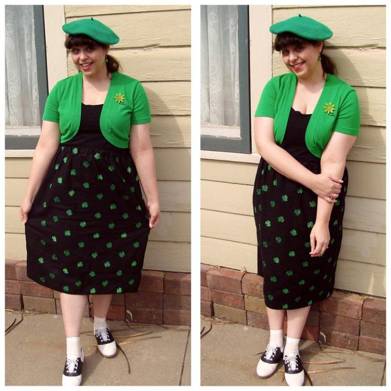 Posing in my Lucky Skirt