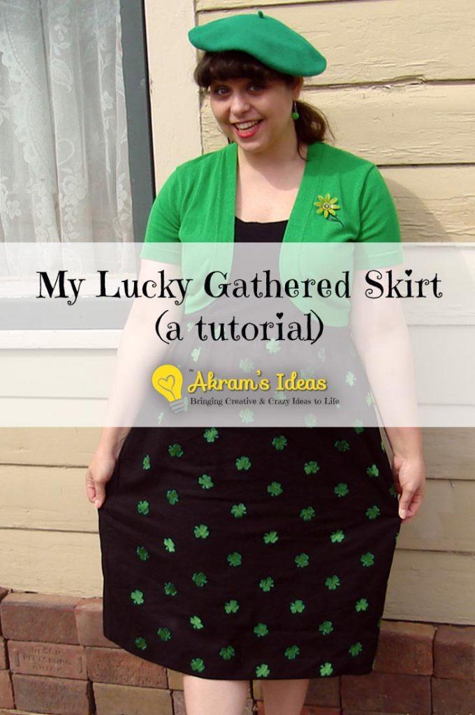 My Lucky Gathered Skirt (a tutorial)