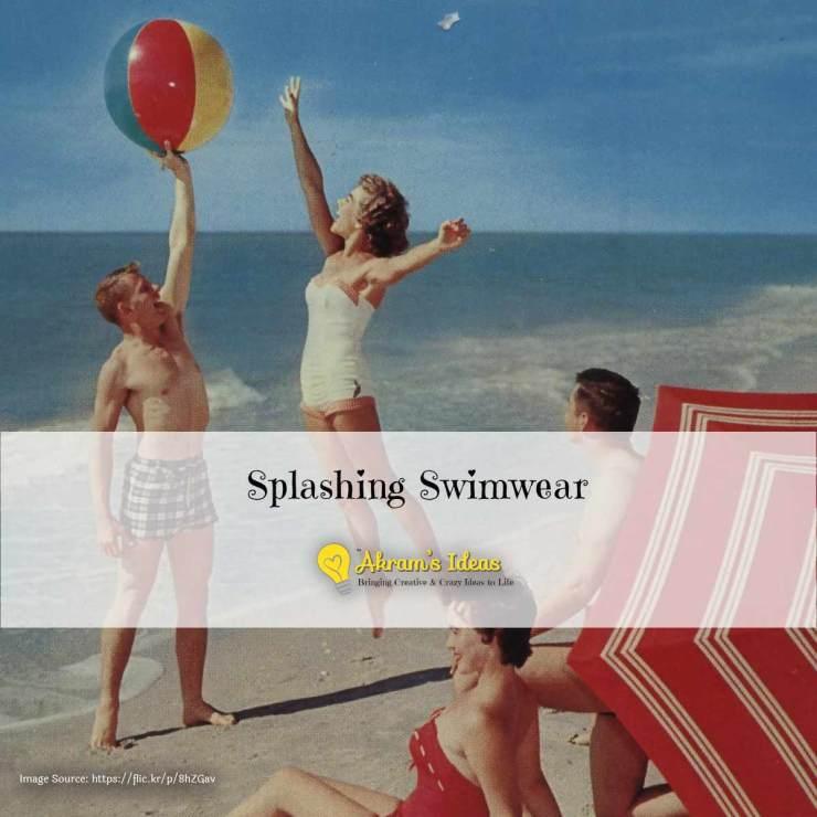 Akram's Ideas - Splashing Swimwear