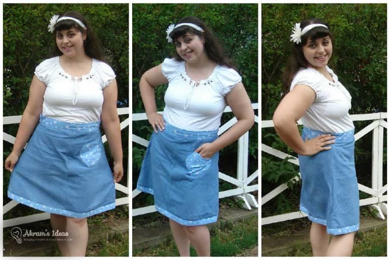 Me posing in my Delphine hack skirt