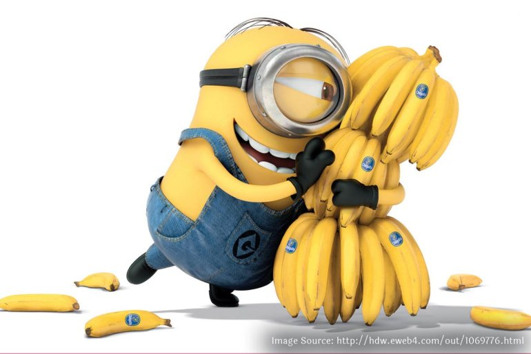 Minoins love bananas