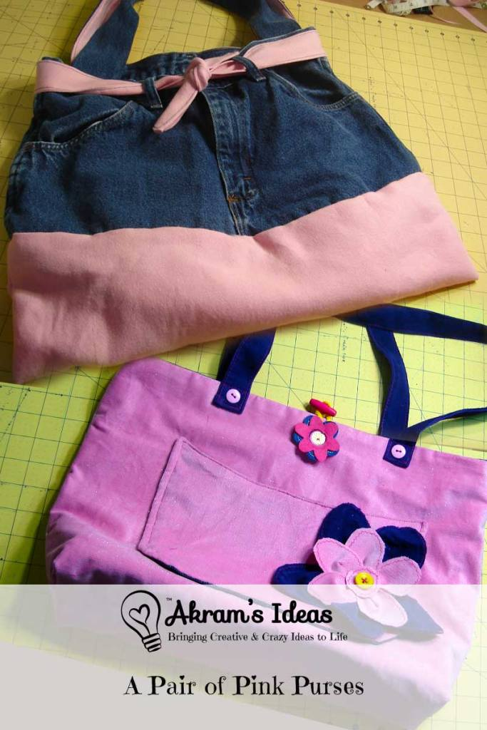 Akram's Ideas: A Pair of Pink Purses