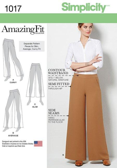 Simplicity 1017 - wide leg pants