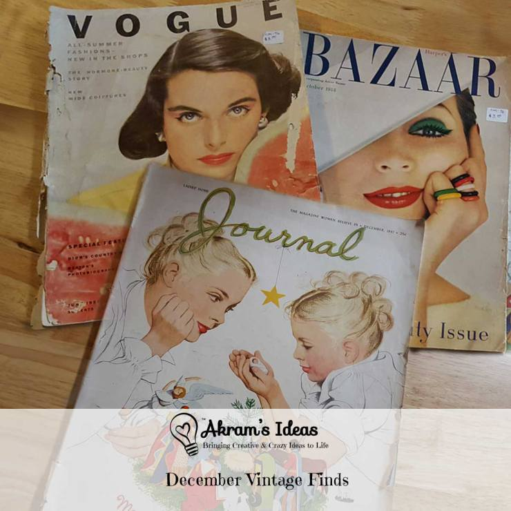 Akram's Ideas: December Vintage Finds