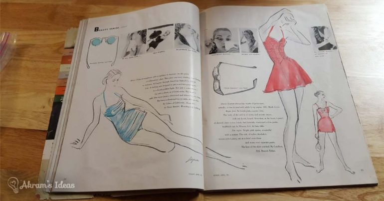 Vogue June 1951 - Swimsuit Fashion
