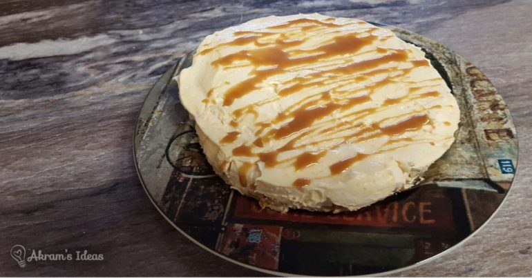 Akram's Ideas: No-Bake Caramel Pumpkin Cheesecake