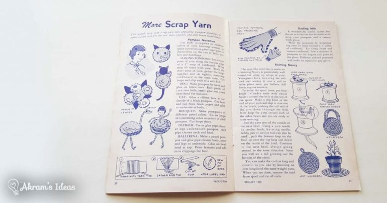 Great ideas for scrap yarn