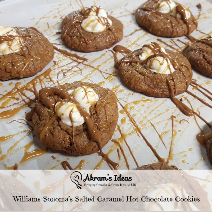 Akram's Ideas: Williams-Sonoma's Salted Caramel Hot Chocolate Cookies