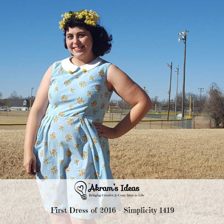 Akram's Ideas : First Dress of 2016 - Simplicity 1419