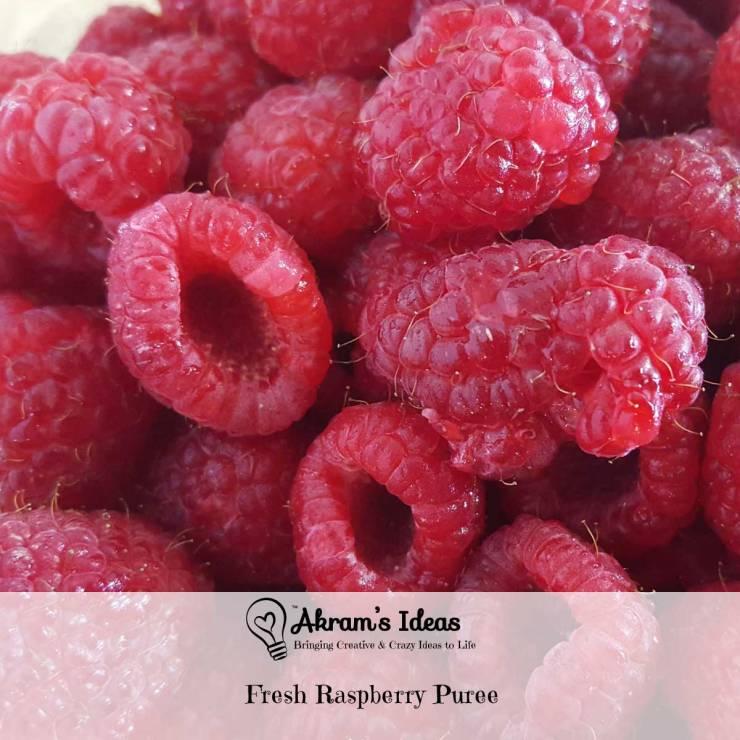 Akram's Ideas: Fresh Raspberry Puree