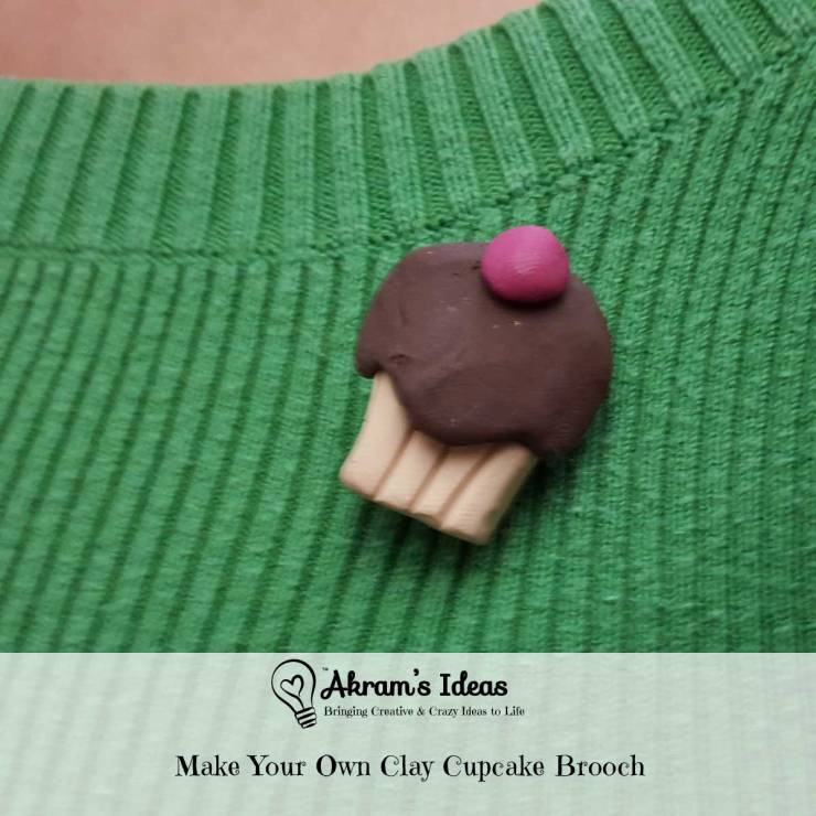 Akram's Ideas: Make Your Own Clay Cupcake Brooch