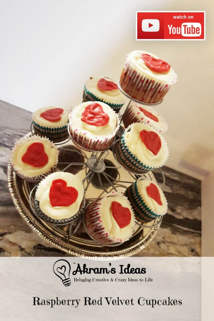 Akram's Ideas: Raspberry Red Velvet Cupcakes