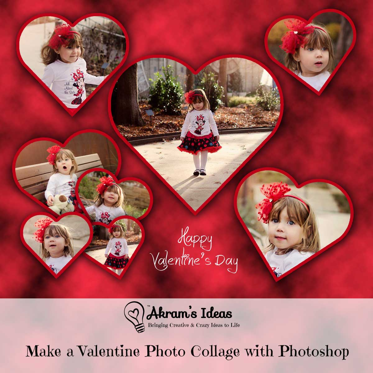 Akramu0027s Ideas: Make A Valentine Photo Collage With Photoshop