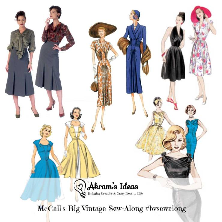 Join the big Vintage sew-along hosted by McCall's Patterns. This year long event helps to raise money for the Eve Appeal Charity.