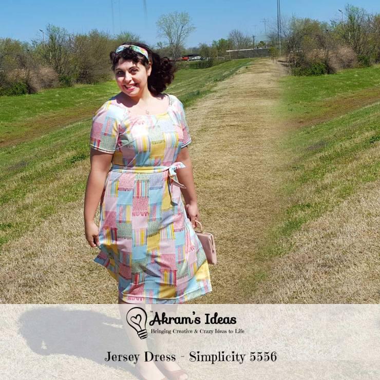 Akram's Ideas: Jersey Dress - Simplicity 5556